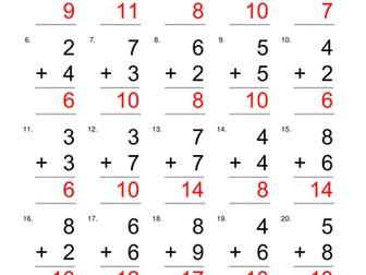 maths worksheets bundle addition division maths patterns by   worksheets addition maths easy at start hard at the end