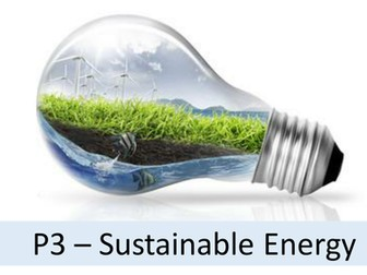 Complete 21st Century Science OCR P3  - Sustainable Energy
