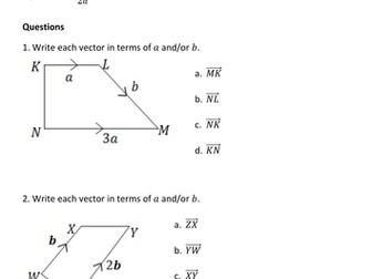 Vectors revision