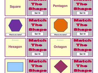 Measure Shapes and Space card sort