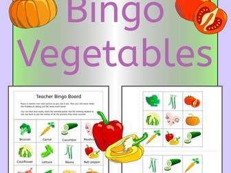 Vegetables Bingo