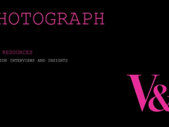 Photography: Artist interviews and process insights from the V&A