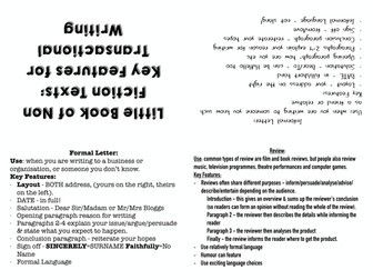 Eduqas Transactional Writing Model Answer & booklet