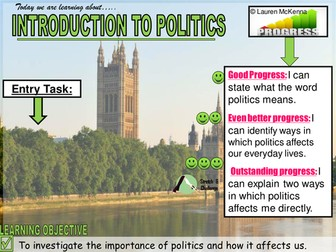 Citizenship Introduction to government and politics