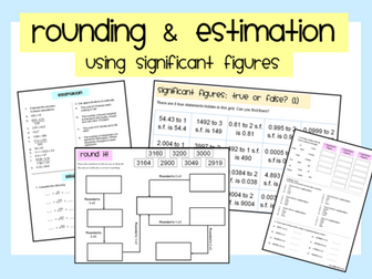 Rounding & Estimation: Using Significant Figures