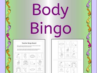 Bingo - Body Parts