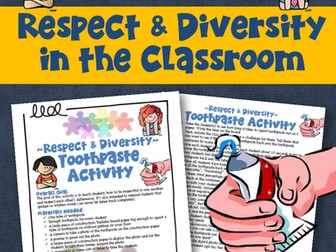 Teaching Respect Toothpaste Activity
