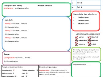 Outstanding Lesson Plan Template