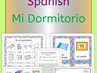 Spanish Bedroom Vocabulary - Mi Dormitorio