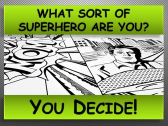 SUPERHERO ACTIVITY. All About Me.