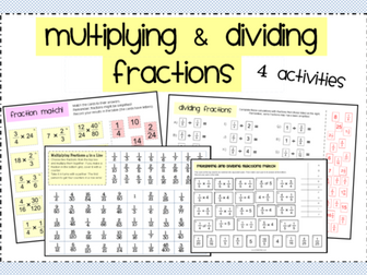 Multiplying & Dividing Fractions Activity Pack