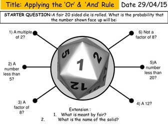 The 'And' and 'Or' Rule Probability