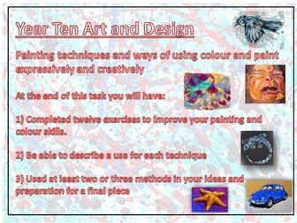 Paint and colour application techniques