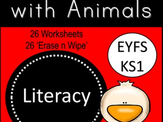 Handwriting with Animals for Emergent Writers