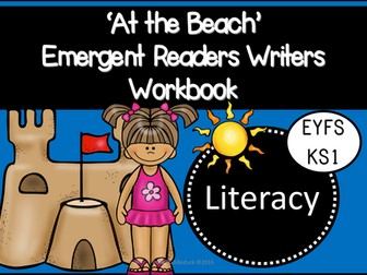 At the Beach Emergent Readers and Writers Workbook (EYFS/KS1)