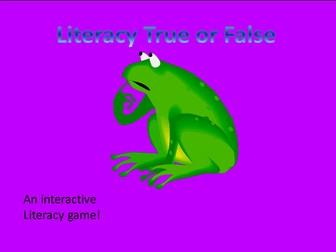 Literacy True or False - Literacy Game