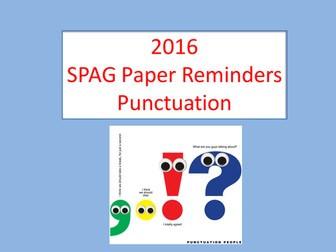 KS2 SPAG Test Punctuation Reminders + Questions