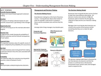 Managers, Leadership and Decision Making