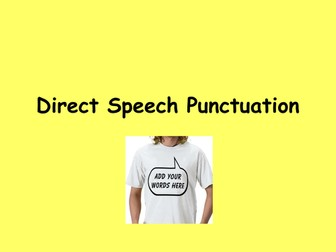 Speech Marks - How to use them - English and Literacy