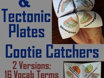 Plate Tectonics Cootie Catchers
