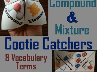 Elements Compounds and Mixtures Cootie Catchers