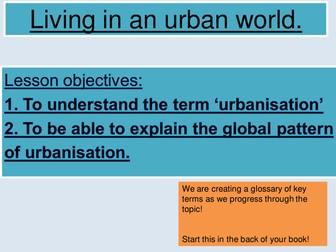 AQA new specification GCSE Urbanisation