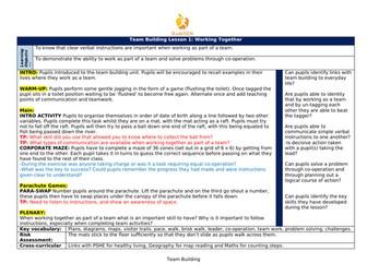 SEN Team Building Lesson Plans