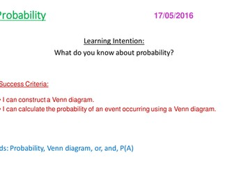 Venn Diagrams and Probability New GCSE