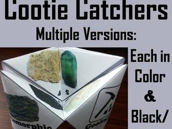 Rocks and Minerals Cootie Catchers