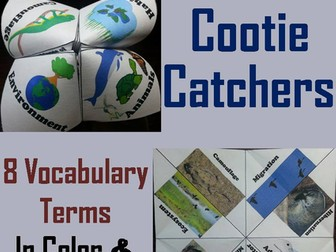 Animal Adaptations Cootie Catchers