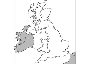 Label the UK seas and world oceans