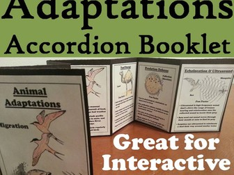 Animal Adaptations Accordion Booklet