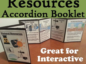 Natural Resources Accordion Booklet