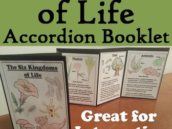 Six Kingdoms of Life Accordion Booklet
