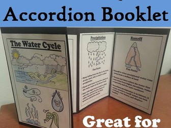 Water Cycle Accordion Booklet