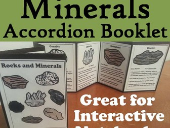 Rocks and Minerals Accordion Booklet