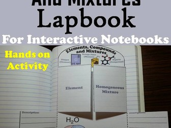 Elements Compounds and Mixtures Lapbook