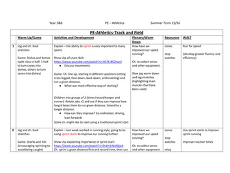 KS2 Athletics Lesson Plans