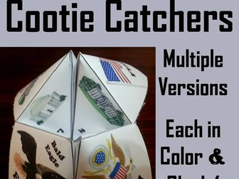 American Symbols Cootie Catchers