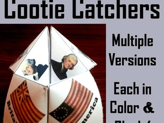 American Revolution Cootie Catchers