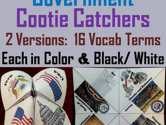 Branches of Government Cootie Catchers