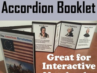 American Revolution Accordion Booklet