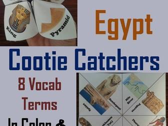 Ancient Egypt Cootie Catchers