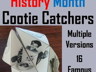 Black History Month Cootie Catchers