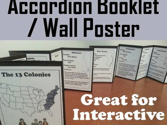 13 Colonies Accordion Booklet