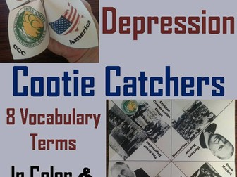 Great Depression Cootie Catchers