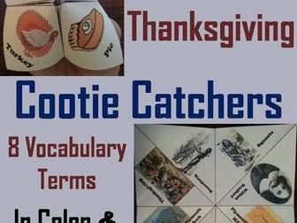 First Thanksgiving Cootie Catchers