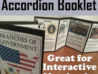 Branches of Government Accordion Booklet
