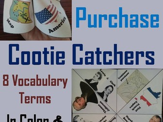 Louisiana Purchase Cootie Catchers