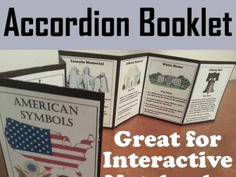 American Symbols Accordion Booklet